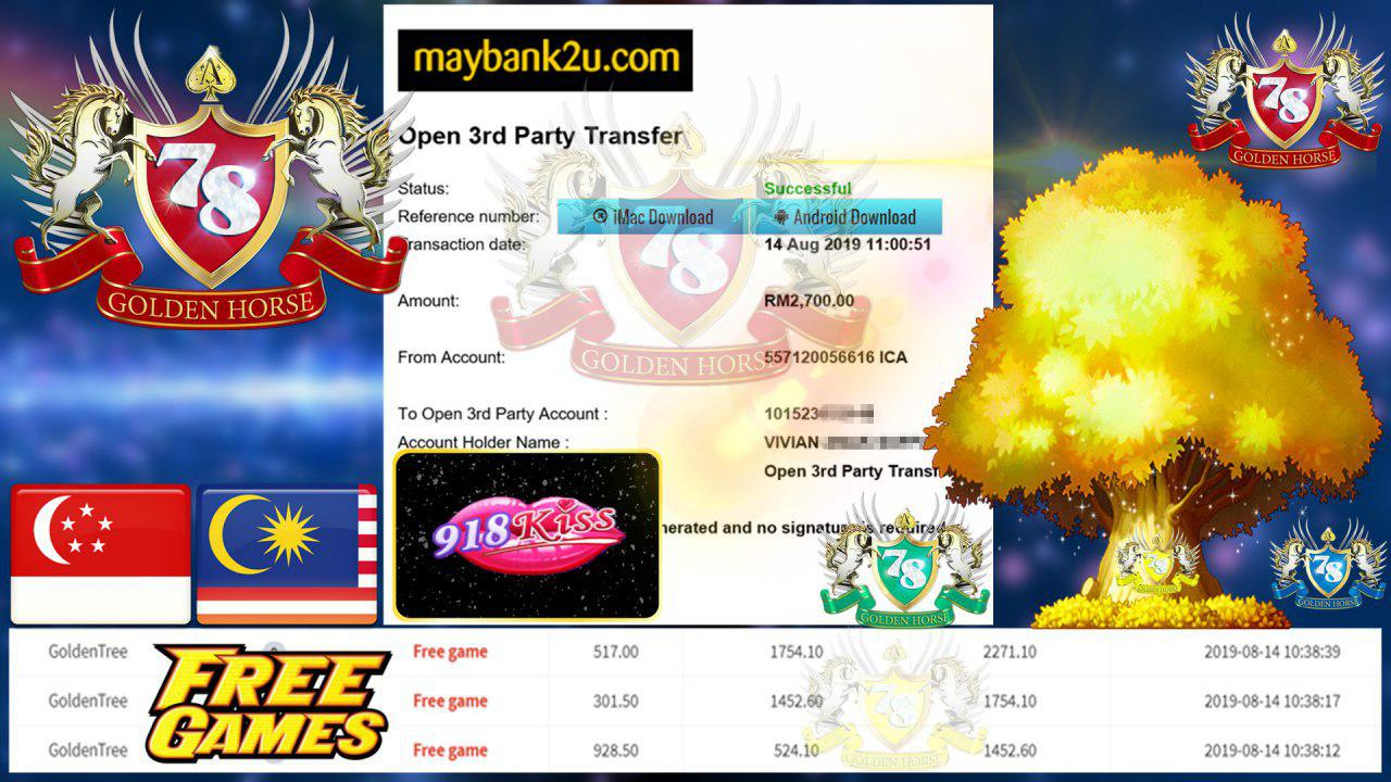 918KISS GOLDENTREE CUCI RM2700 !!