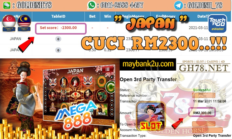 MEGA888 JAPAN GAME CUCI RM2300 JOIN NOW WITH US AT GH78.NET !!