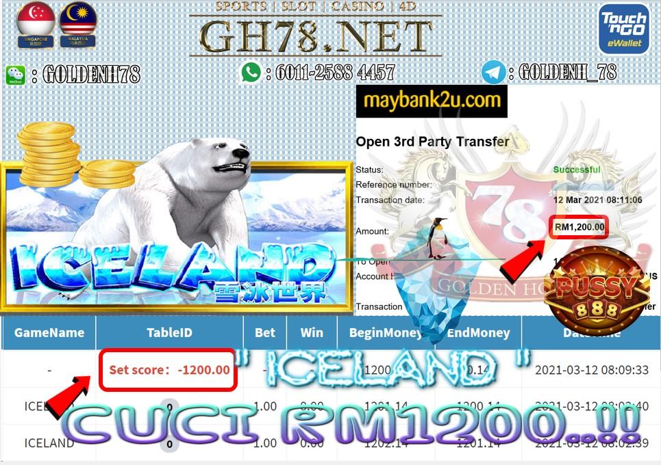 PUSSY88 ICELAND GAME CUCI RM1200 JOM JOIN SEKARANG KAT KOMPENI KAMI