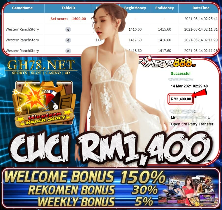 MEGA888 WESTERN RANCH STORY GAME CUCI RM1400 JOIN NOW WITH US AT GH78.NET !!