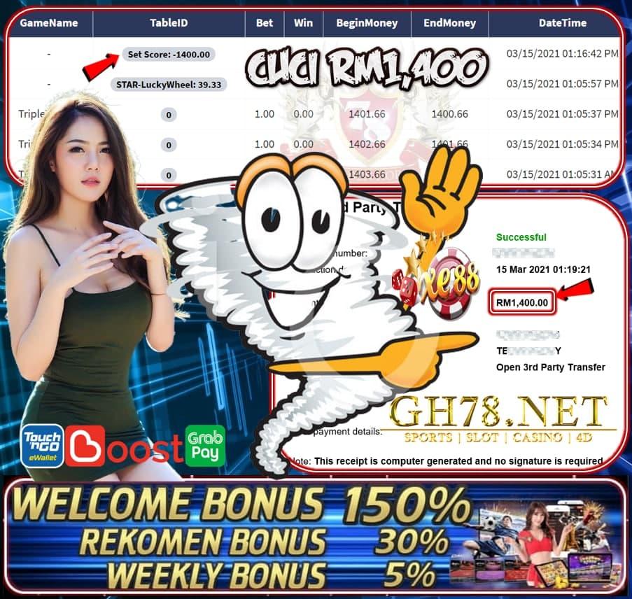 XE88 TRIPLE TWISTER GAME CUCI RM1400 JOM JOIN DENGAN KOMPENI KAMI SEKARANG JUGA!!