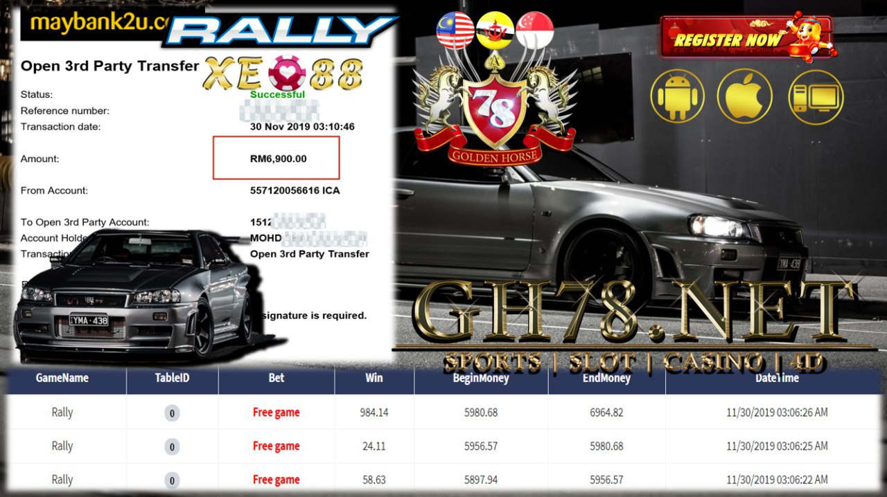 MEMBER MAIN GAME RALLY MINTA CUCI RM6900!!!!