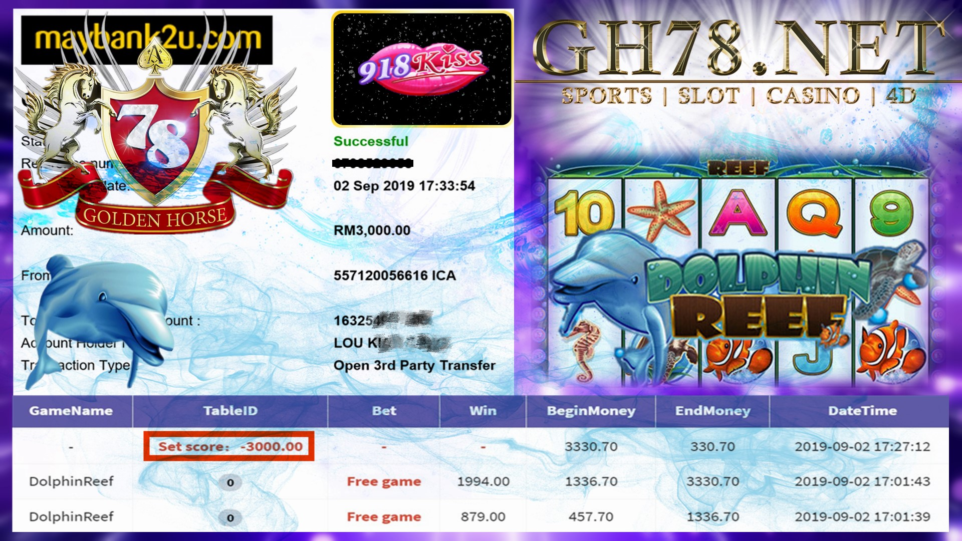 DOLPHINREEFFFF CUCI RM3000 !! BANYAK ONG ONG ~~~
