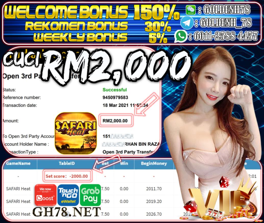 MEMBER MAIN MEGA888 CUCI RM2,000 !!