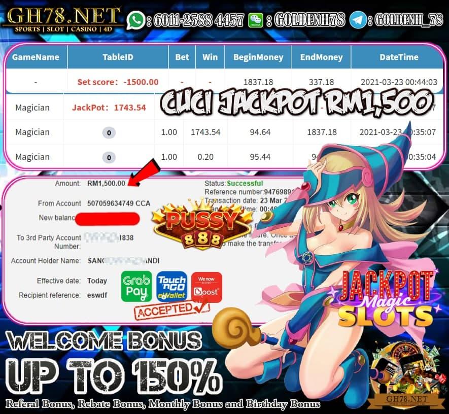 PUSSY888 MAGICIAN GAME MEMBER MINTA CUCI RM1500