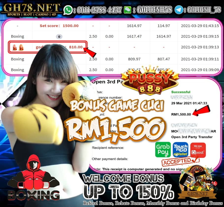 PUSSY888 BOXING GAME CUCI ANGPAO RM1500