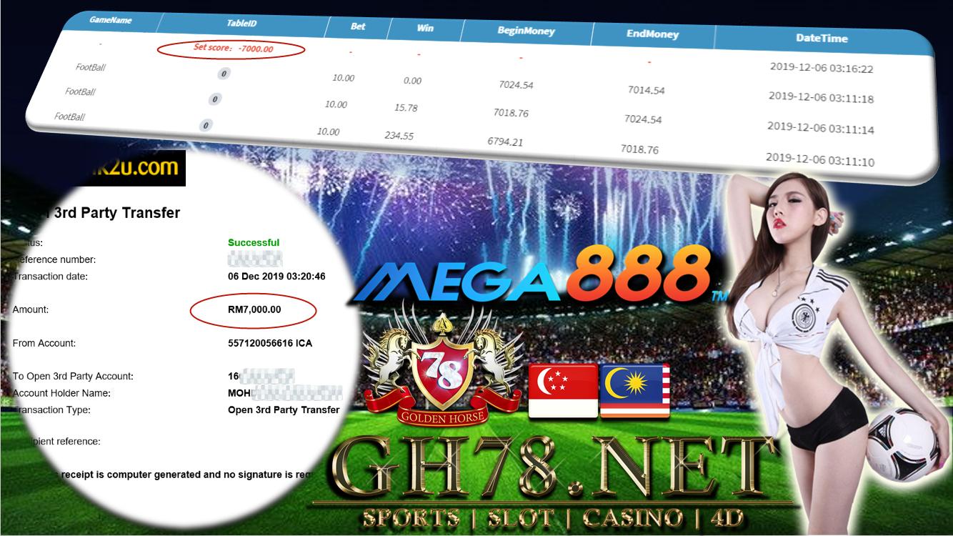 MEGA888 FOOTBALL CUCI RM7000 !!!!