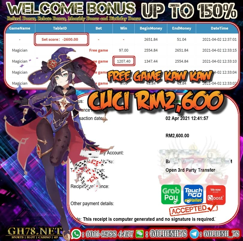 PUSSY888 MAGICIAN GAME CUCI RM2600