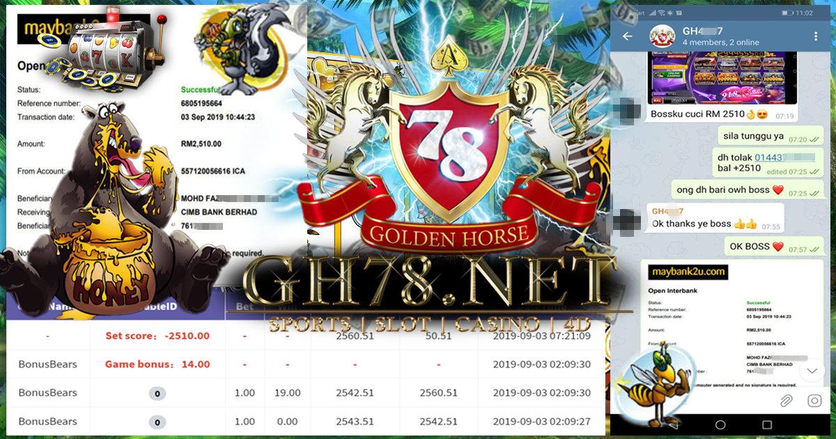 MEMBER MAIN GAME 918KISS FT.BONUSBEARS MINTA OUT RM2,510