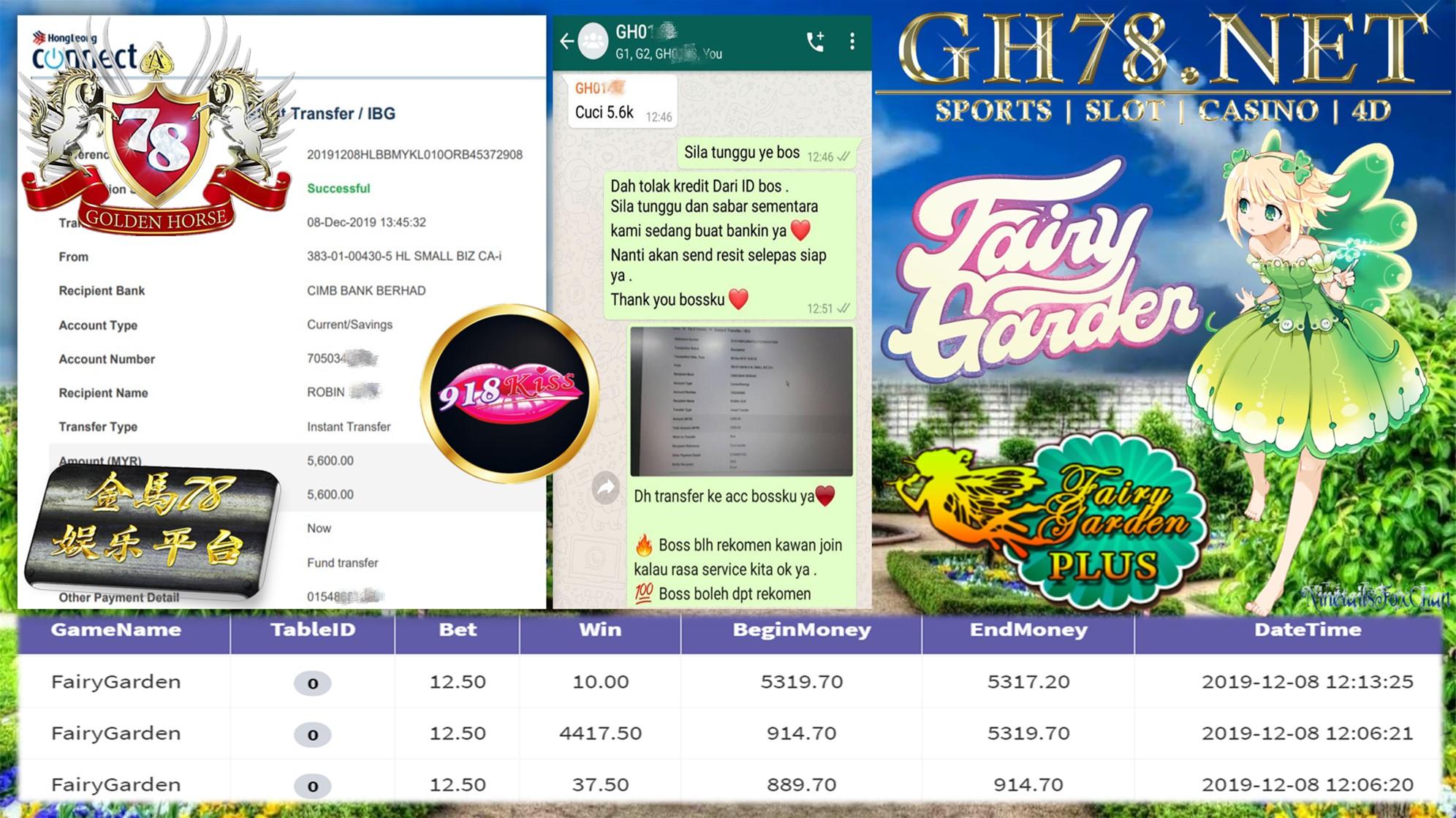918KISS FAIRYGARDEN MINTA CUCI RM5600!!!