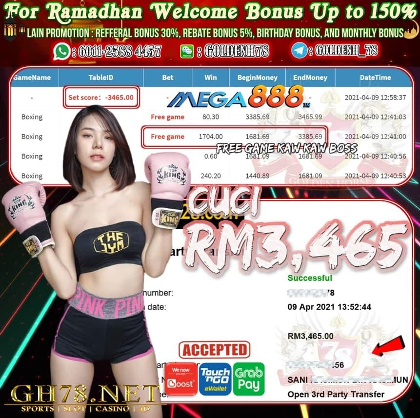 MEGA888 BOXING GAME CUCI RM3,465
