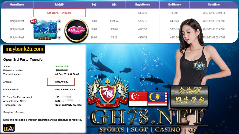 918KISS DOLPHIN REEF CUCI RM6400 !!