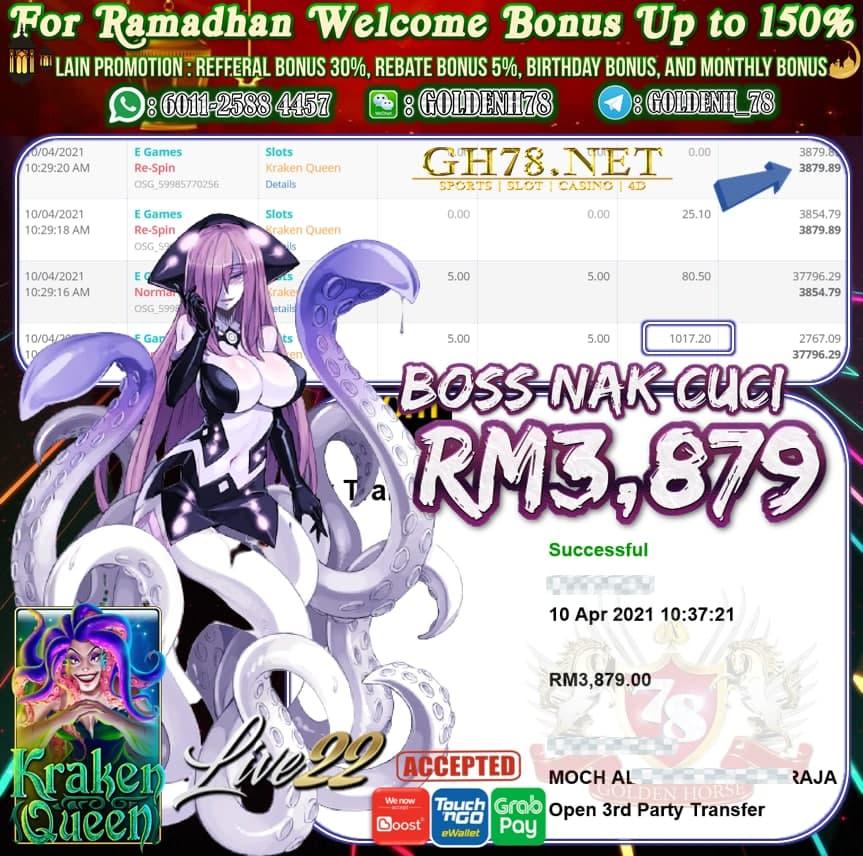 LIVE22 KRAKEN QUEEN GAME CUCI RM3,879