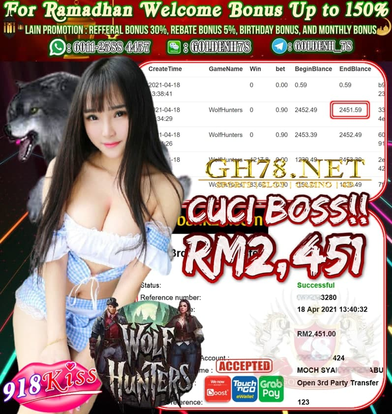 918KISS WOLF HUNTERS CUCI RM2,451
