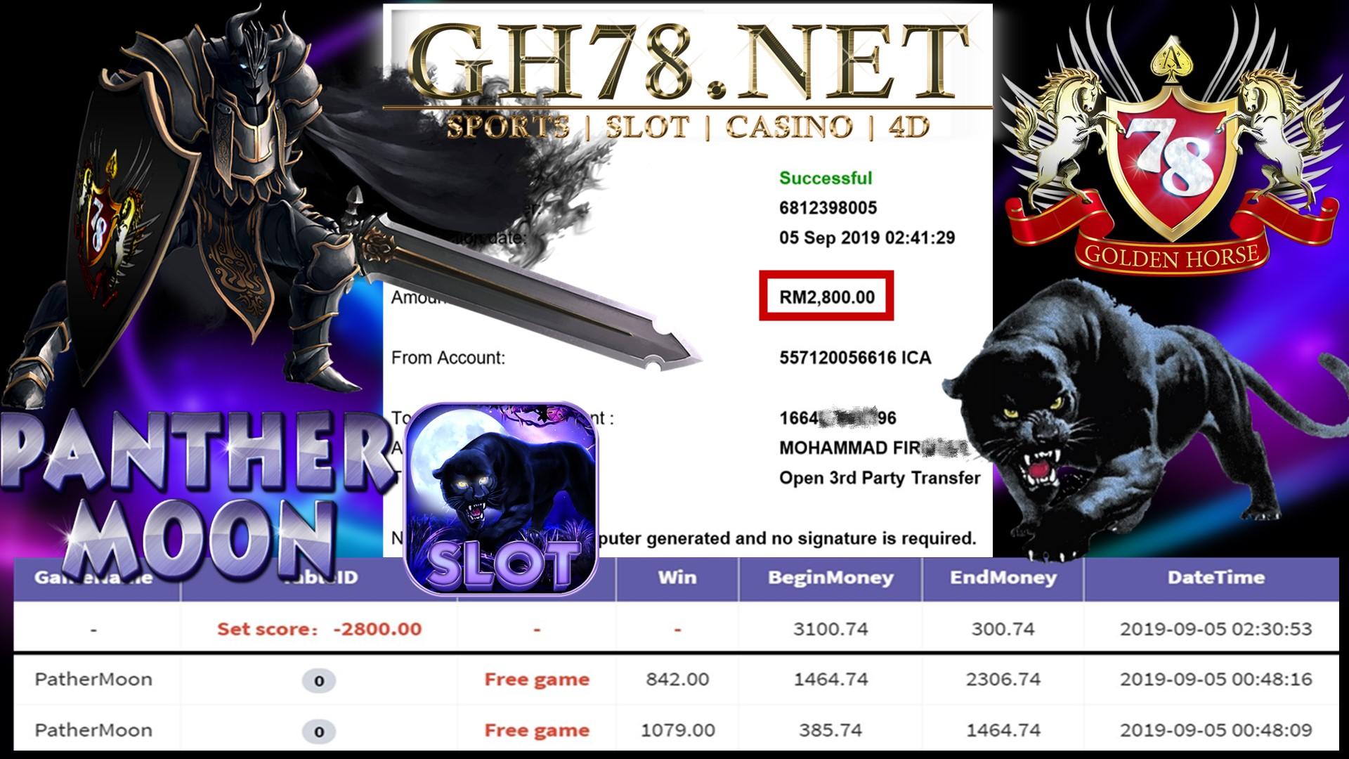 MAIN GAME 918KISS FT.PANTHERMOON FREEGAME BANYAK MINTA OUT RM2,800