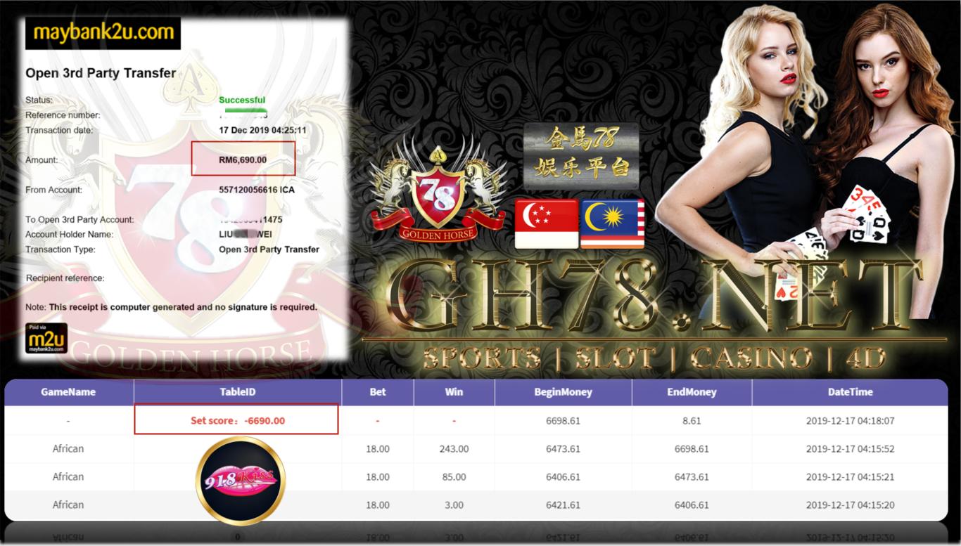 CUSTOMER MAIN 918KISS CUCI RM6690 !!!!!