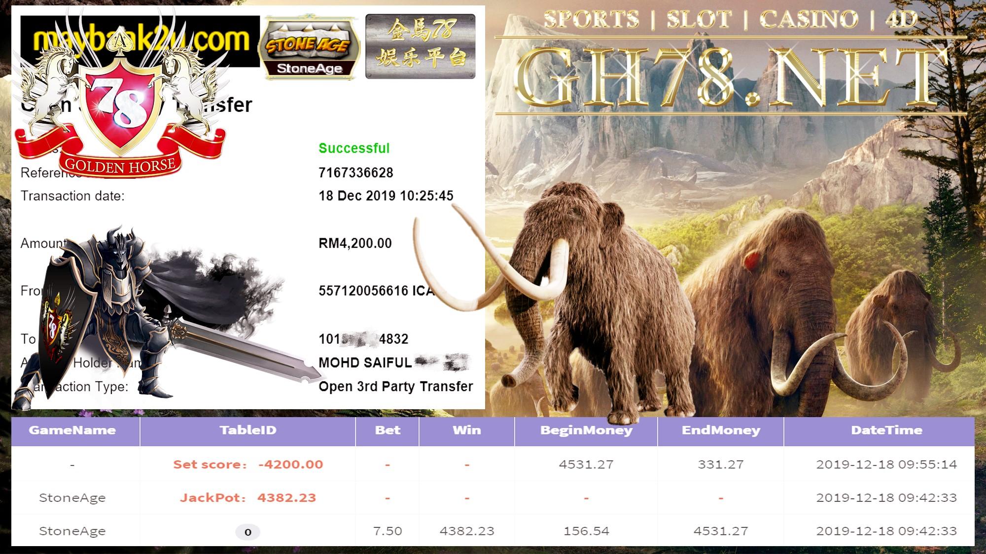 MEMBER MAIN 918KISS STONEAGE DPT CUCI RM4200!!!