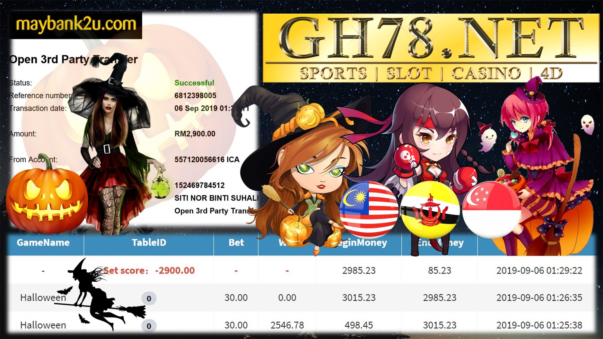 MAIN GAME PUSSY888 FT.HALLOWEEN MENANG BESAR MINTA OUT RM2,900