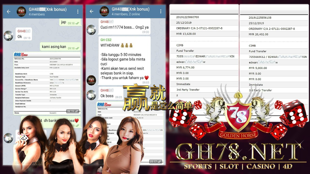 MEMBER MAIN 918KISS GAME CASINO WAR MINTA OUT RM11774!!!