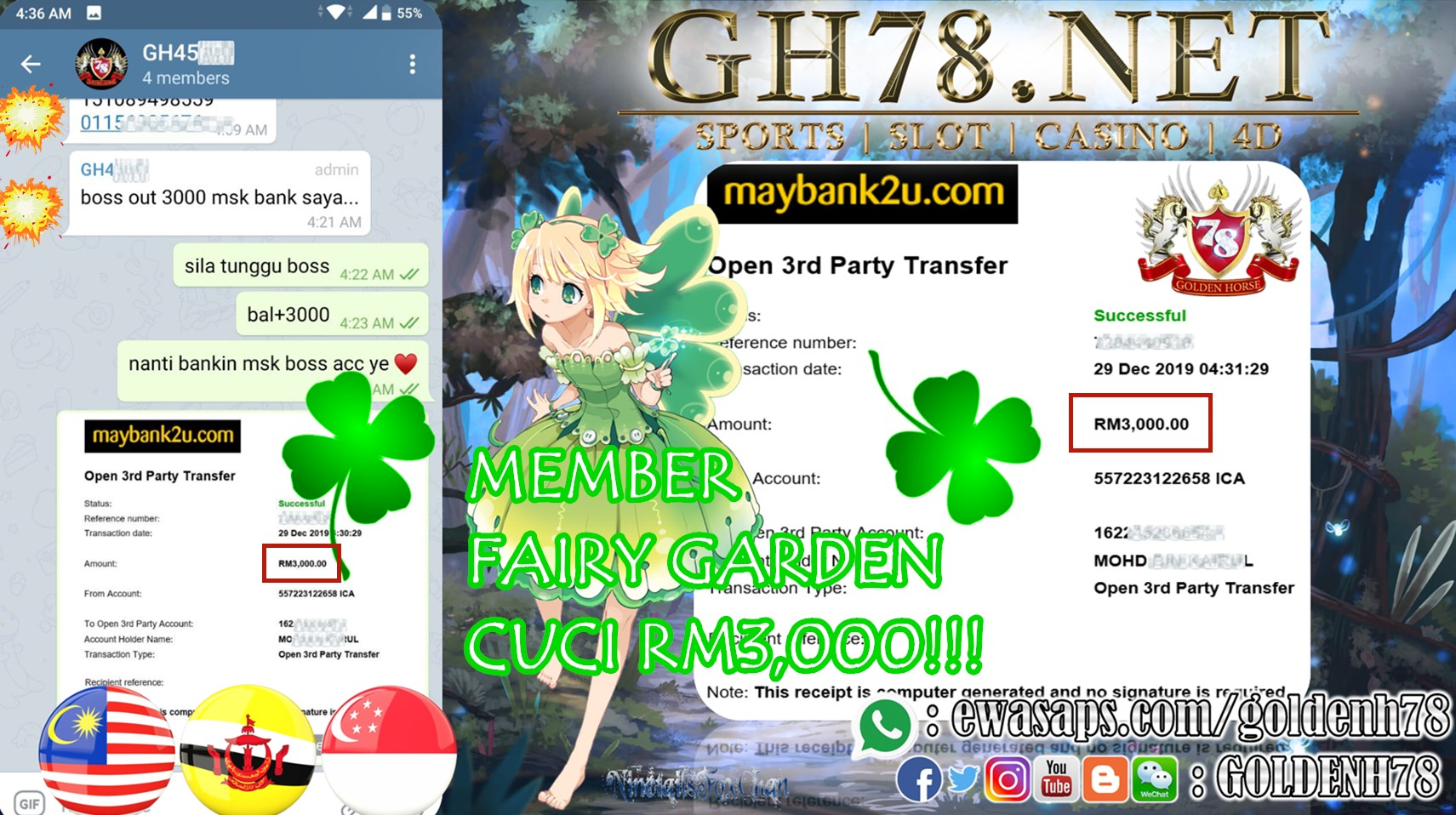 MEMBER MAIN GAME FAIRY GARDEN MINTA OUT RM3000!!!