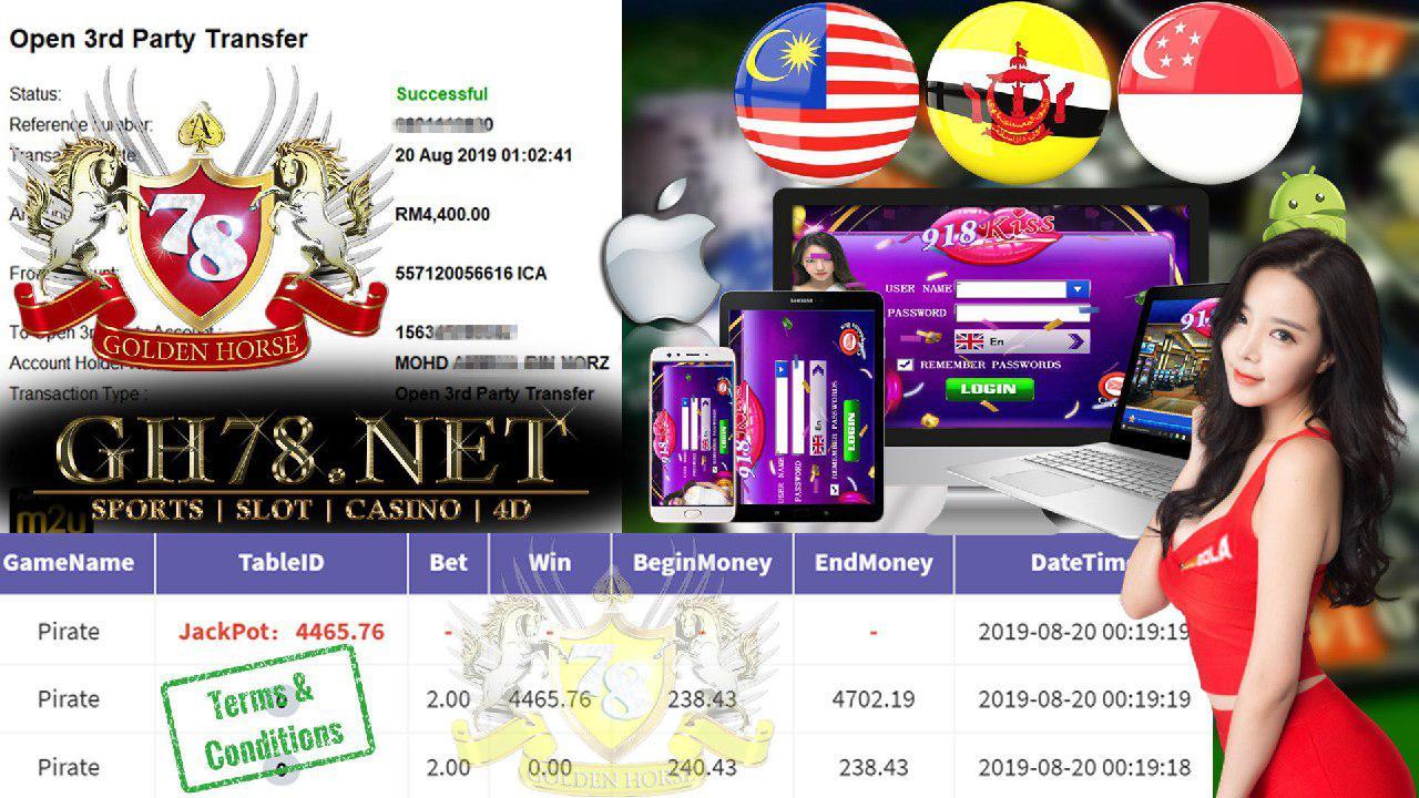 918KISS FT.PIRATE JACKPOT LAGI CUCI RM4400 !!!