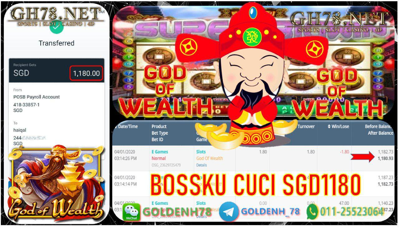 LIVE22 MAIN GOD OF WEALTH MINTA OUT SGD1180