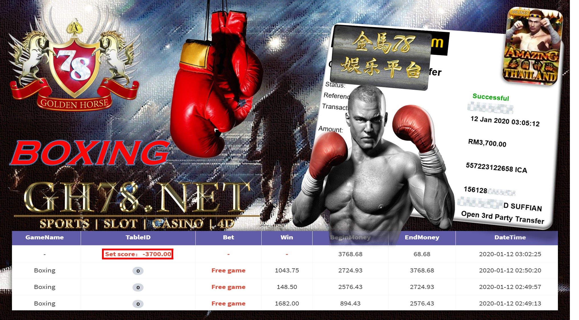 2020 NEW YEAR !!! MEMBER MAIN 918KISS FT.BOXING WITHDRAW RM3700 !!!