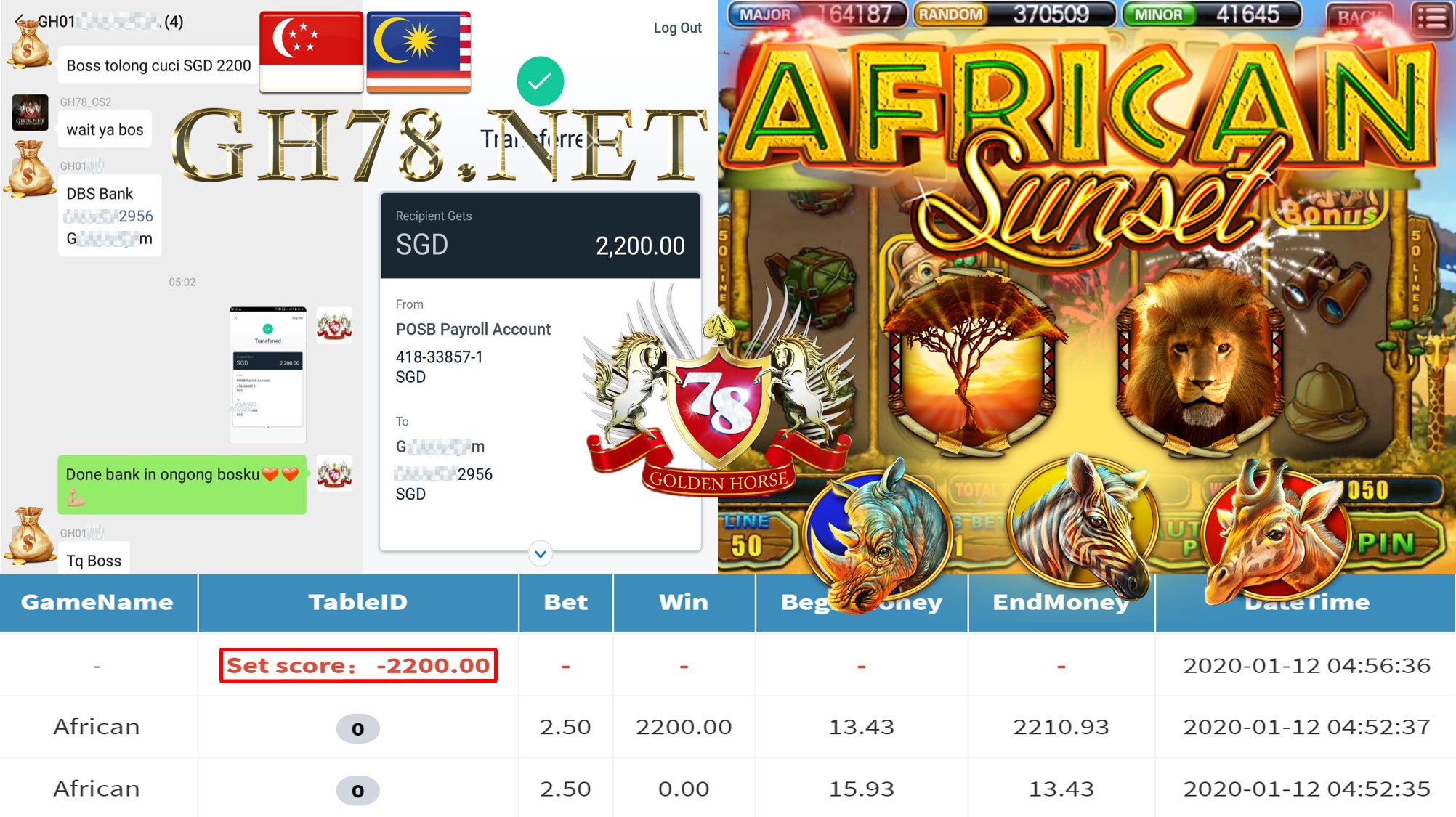 2020 NEW YEAR !!! MEMBER MAIN 918KISS FT.AFRICAN WITHDRAW $2200 !!!