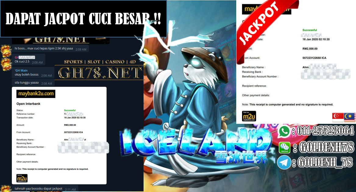 2020 NEW YEAR !!! MEMBER MAIN PUSSY888 FT.ICELAND WITHDRAW RM2500 !!!