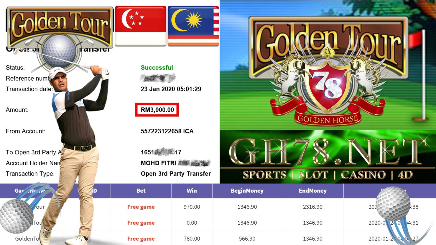 2020 NEW YEAR !!! MEMBER MAIN 918KISS, GOLDEN TOUR ,WITHDRAW RM3000 !!!