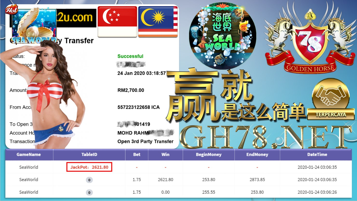 2020 NEW YEAR !!! MEMBER MAIN 918KISS, SEAWORLD ,WITHDRAW RM2700 !!!