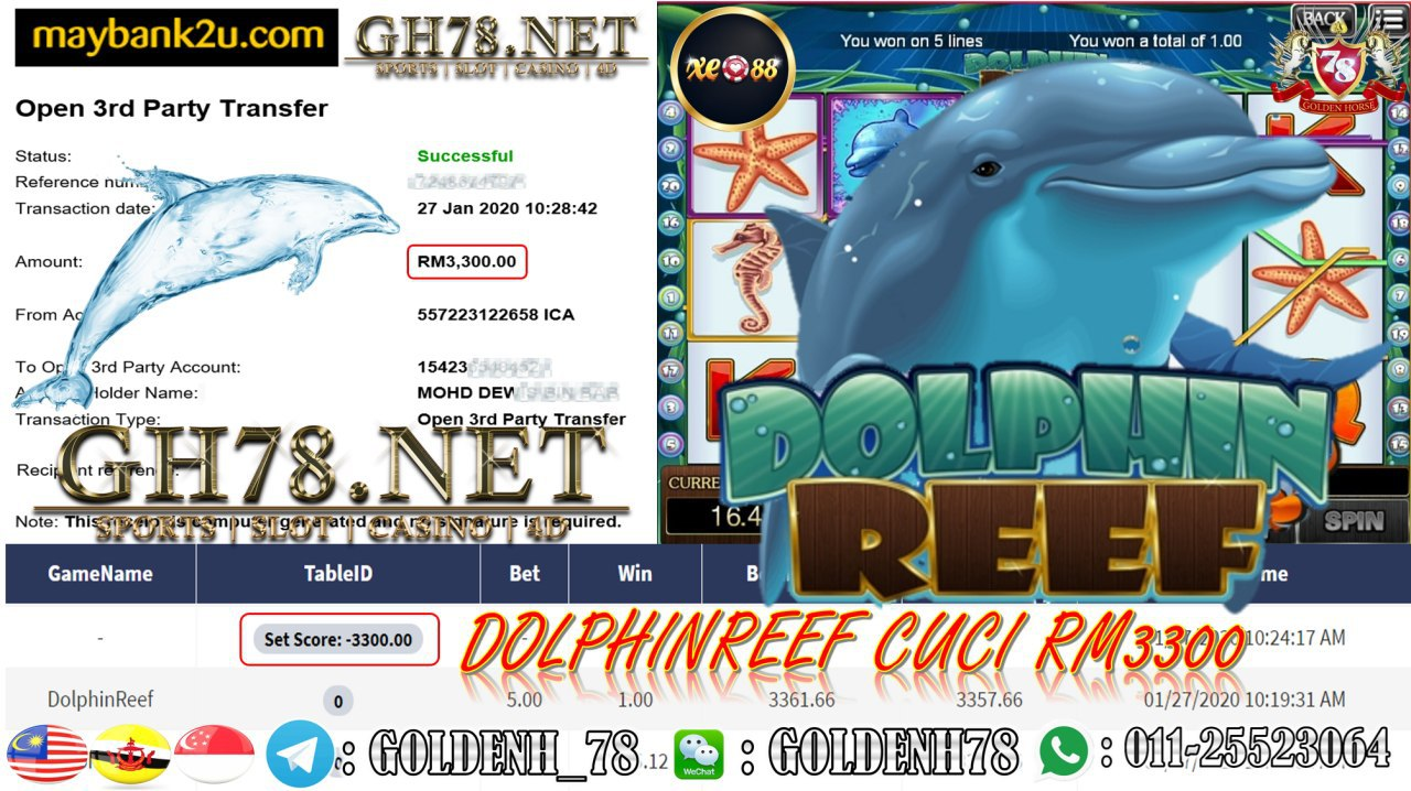 MEMBER MAIN XE88 GAME DOLPHIN REEF MINTA RM3300!!!!