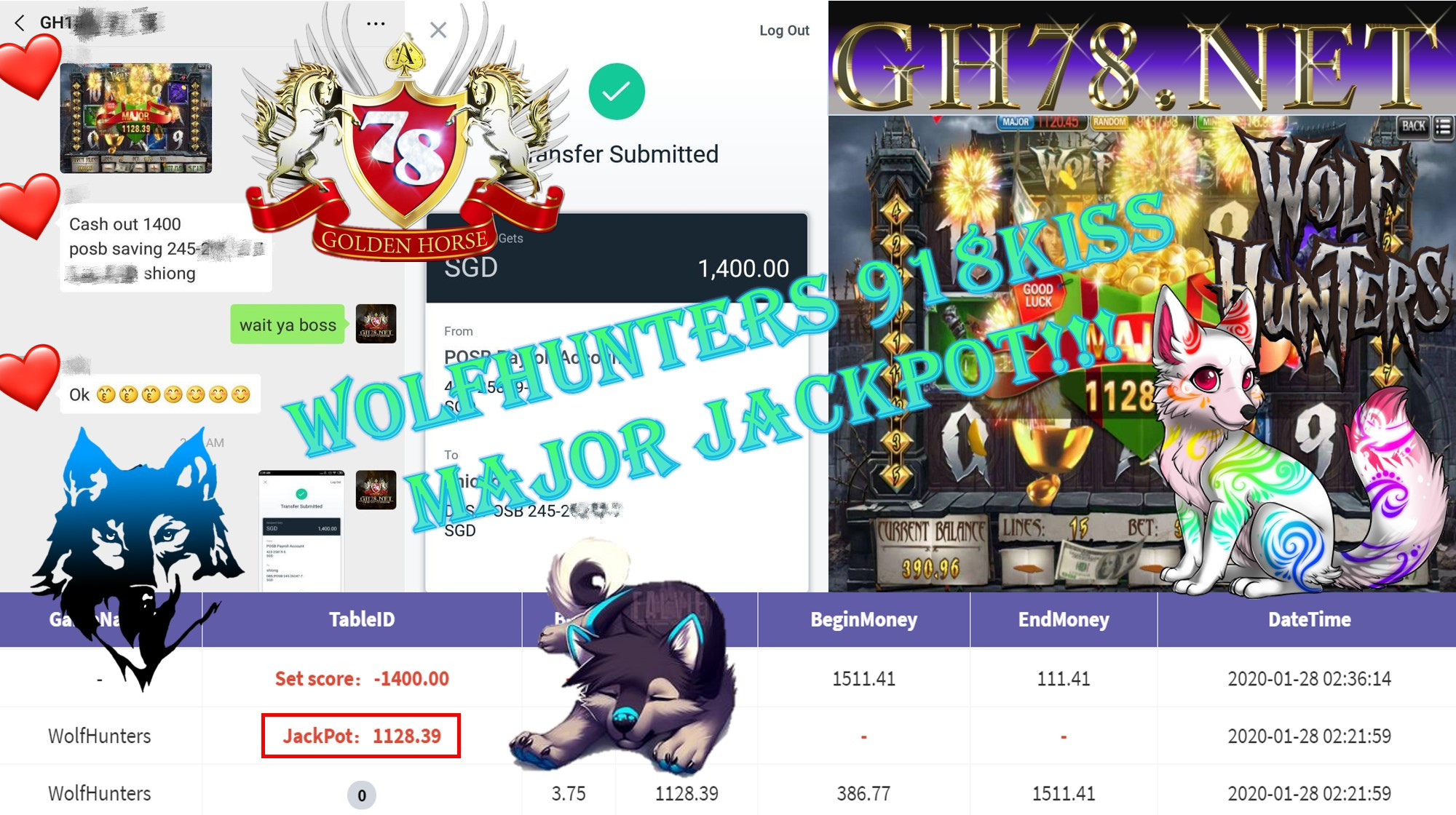 2020 NEW YEAR !!! MEMBER MAIN 918KISS, WOLFHUNTER ,WITHDRAW $1400!!!!