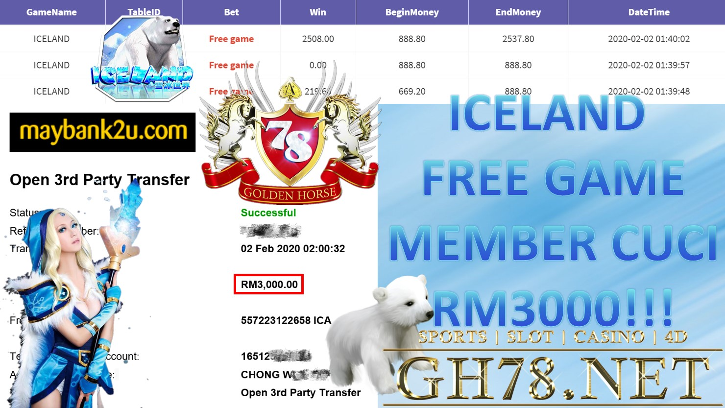 2020 NEW YEAR !!! MEMBER MAIN 918KISS, ISLAND ,WITHDRAW RM3000 !!!