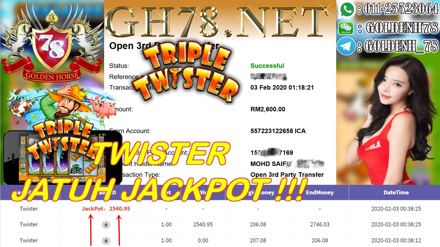 2020 NEW YEAR !!! MEMBER MAIN 918KISS, TWISTER ,WITHDRAW RM2600 !!!