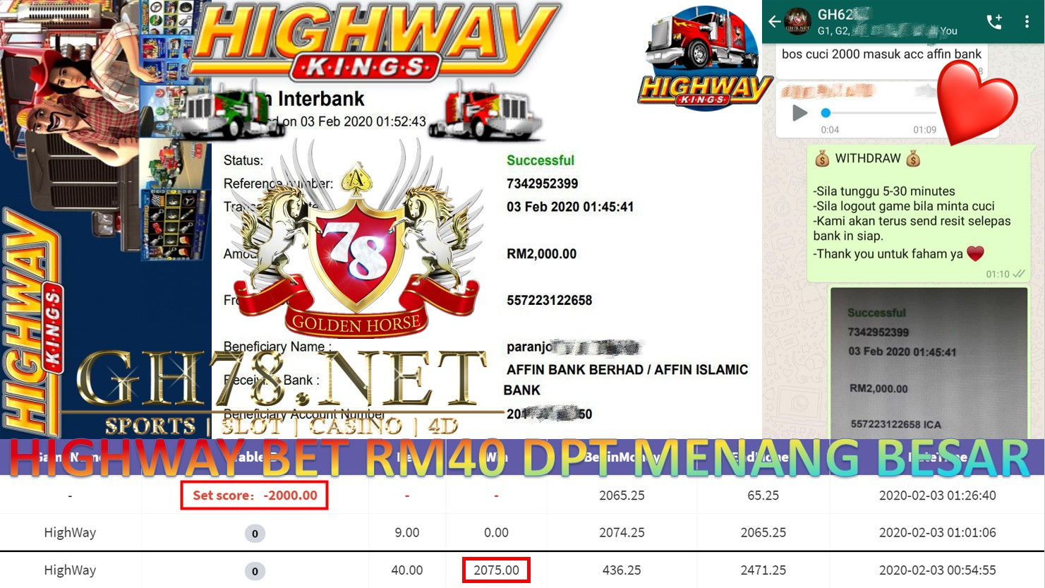 2020 NEW YEAR !!! MEMBER MAIN 918KISS, HIGHWAY KING ,WITHDRAW RM2000 !!!