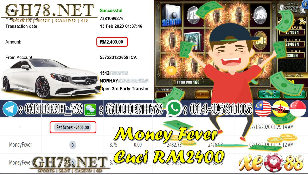 MEMBER MAIN XE88 GAME MONEYFEVER MINTA RM2400!!!!
