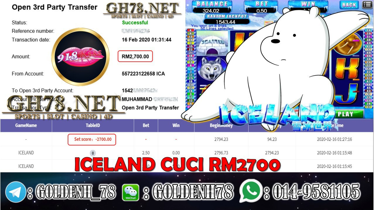 2020 NEW YEAR !!! MEMBER MAIN 918KISS, ICELAND , WITHDRAW RM2700!!